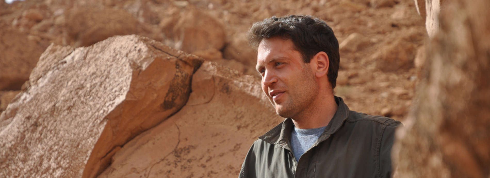 Professor Nizar Ibrahim on a fossil-hunting expedition in the Sahara Desert.